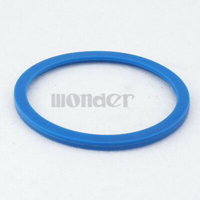 (5) Blue Silicone Flat Gasket Ring Washer Fit 89mm O/D Sanitary SMS Socket Union