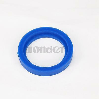 (5) Blue Silicone Flat Gasket Ring Washer Fit 25mm O/D Sanitary SMS Socket Union