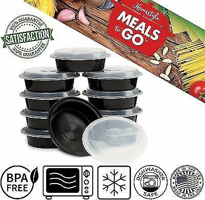 Meal Prep Containers Compartment Plastic Lunch Boxes Microwavable Food Storage