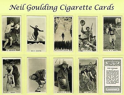 BAT (B.A.T.) - Who's Who In Sport (1926) 1927 #1 to #50 Cigarette Cards