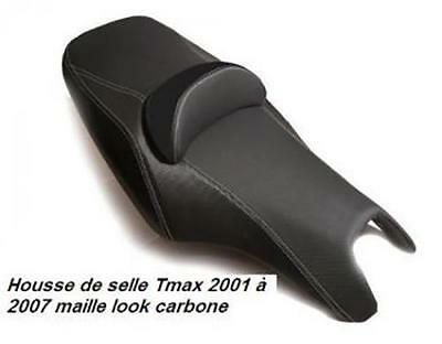 Housse couvre selle noir effet carbone scooter Yamaha 500 Tmax 2001 à 2007 Neuf