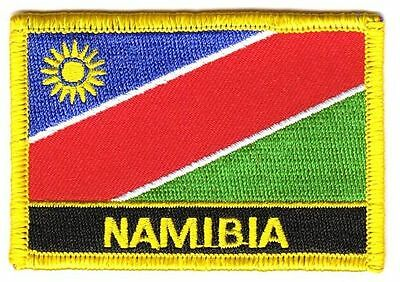 Aufnäher Namibia Schrift Patch Flagge Fahne