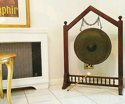 LARGEST Victorian bronze gong on EBAY - 1½ft diameter + most interesting style!!