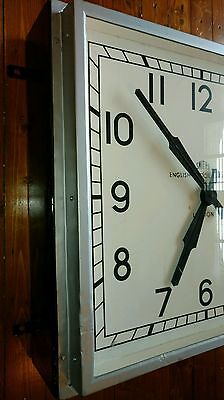 LUCOZADE FACTORY 1950s SMITHS CLOCK - mid century modern / industrial vintage