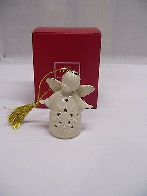 Lenox Christmas Angel Ornament Figurine LIGHT-UP  NEW IN BOX (2014) GOLD ACCENTS