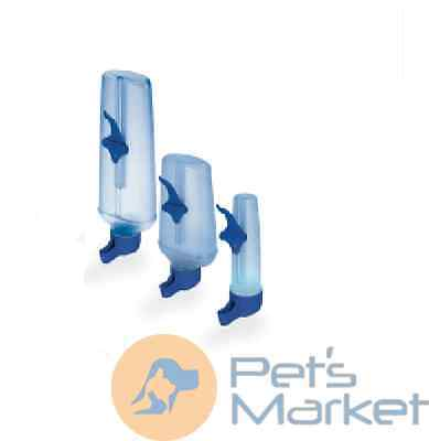 Pets BEVERINO PER UCCELLI WATER DISPENSER PLASTICA ACQUA 10 CL