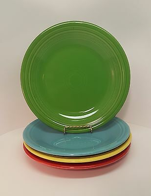 Fiestaware Mixed Colors Dinner Plate Lot Of 4 Fiesta 10 5 Inch Plates 4c1m7