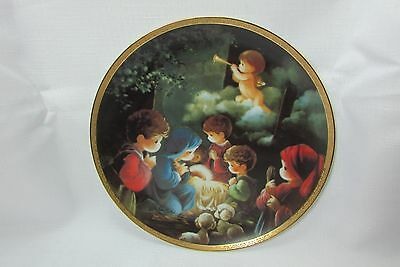 Precious Moments COME LET US ADORE HIM Bible Story Christmas Nativity PLATE 1991