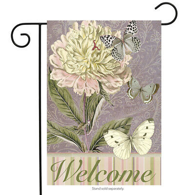 """Peony for Your Thoughts Spring Garden Flag Welcome Floral 12.5"""" x 18"""""""