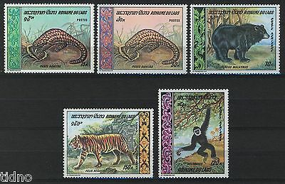 Laos 1969, Wild animals, complete sett incl airmails MNH