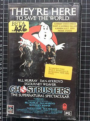 GHOSTBUSTERS rare RCA BETA not VHS Video cult 80s horror comedy movie classic