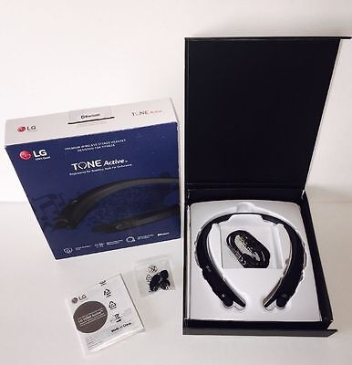 BRAND NEW Genuine LG - TONE Active HBS-A80 Bluetooth Headset - Black