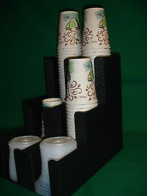 Coffee Cups And Lids Dispenser 6 Compartments