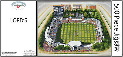 Lords Cricket Ground Stadia Art 500pc Jigsaw Puzzle