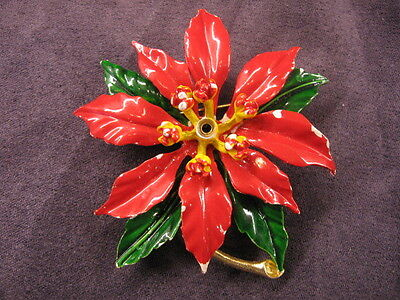 Weiss Christmas poinsettia pin brooch ,Y55