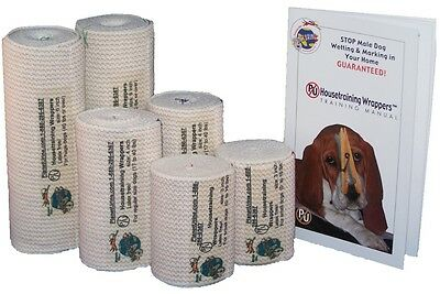PU Housetraining Wrappers™ Belly Bands 3 Inch Wrappers For Smaller Dogs