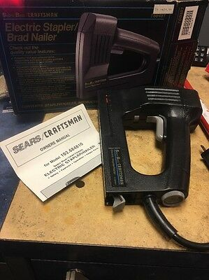 New Old stock Sears BEST/ Craftsman ADJUSTABLE POWER Electric Stapler/Nailer!