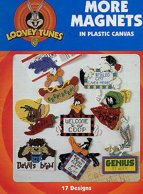 Plastic Canvas Pattern Looney Tunes More Magnets Tweety Sylvester - 17 Designs