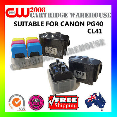 DIY Ink  Refill 9 Times for CANON CL41 PG40 GENUINE Toner Cartridges
