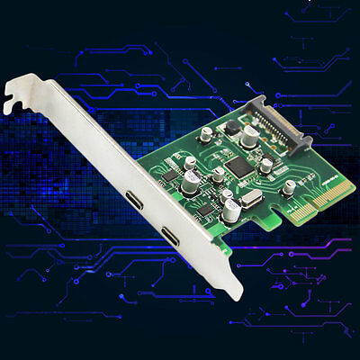 LA31-12C PCIe X4 To 2Ports USB3.1 Type-C 4Pin Expansion Card Chipset ASM1142 I6
