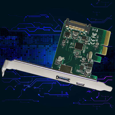 USB3.1 Type A Combo to PCI Express USB 3.1 Type-C Expansion Card LA31-12T I6