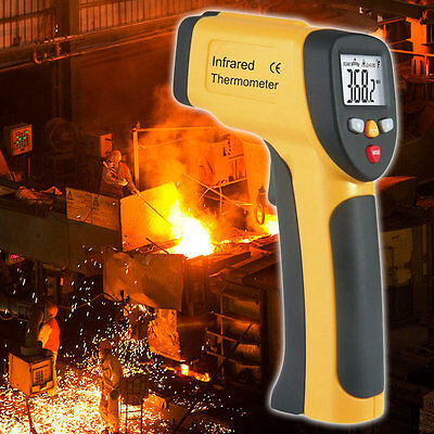 LCD Display IR Infrared Thermometer -50 To 650 Degree Celsius HT-816 Handheld I6