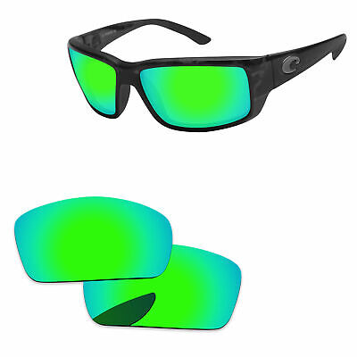 cfe0aaf012ce PapaViva Green Mirrored Polarized Replacement Lenses For-Costa Del Mar  Fantail