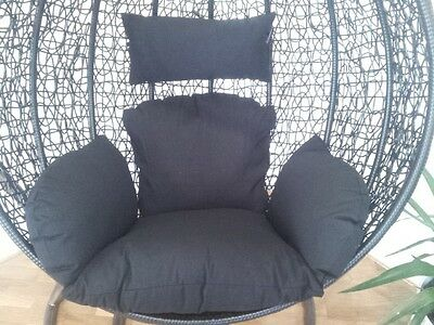 Brand New * Replacement Cushion set for Swing Egg Pod Wicker Chair * Black