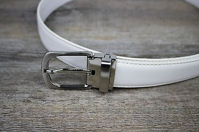 Boys and Baby's Formal White Leather Belt | Weddings and Formals |
