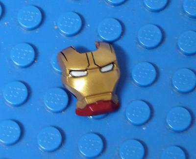 LEGO Minifig, Visor Top Hinge with Gold Face Shield, Black Lines  x1PC