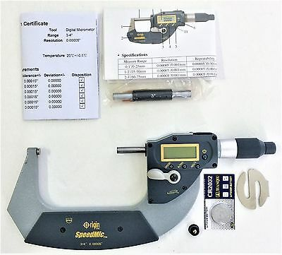 """NEW DIGITAL 3-4"""" Absolute ELECTRONIC DIGITAL MICROMETER .00005"""" Reading"""
