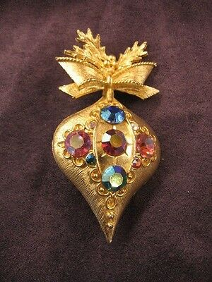 Dodds Christmas ornament pin brooch,Y73