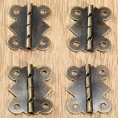 20x25mm Mini Antique Bronze Butterfly Hinges For Cabinet Cupboard Jewelry Box
