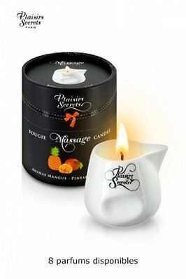 Plaisirs secrets - Bougie de massage gourmande