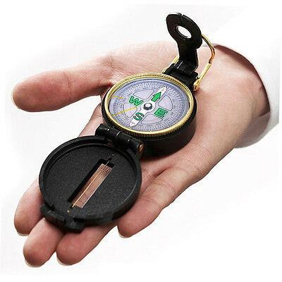 Pocket Outdoor Military Army Hiking Camping Lens Survival Mini Black Compass E6