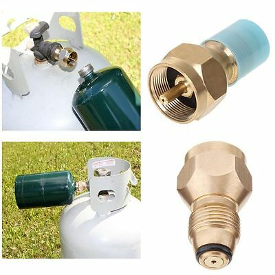 New Outdoor BBQ Hunt Lp Gas Cylinder Tank Propane Refill Adapter Coupler Heater