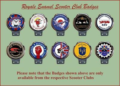 Royale Enamel Club Bar Badge - Your Club Logo No minimum order Vespa Lambretta