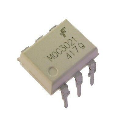 5 MOC3021 Fairchild Optokoppler 7,5kV 400V 15mA Triac-Driver-Output DIP-6 854777