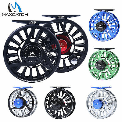 1/2/3/4/5/6/7/​8/9/10WT Fly Reel CNC Machined Aluminum Mid Arbor Fly Fishing