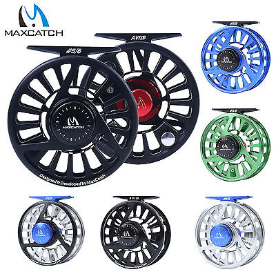 3/4/5/6/7/8WT Fly Reel CNC Machined Aluminum Micro Adjusting Fly Fishing Reel