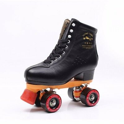 New Women Mens Quad Roller Skates Double Line Outdoor Indoor Skating Boots Shoes