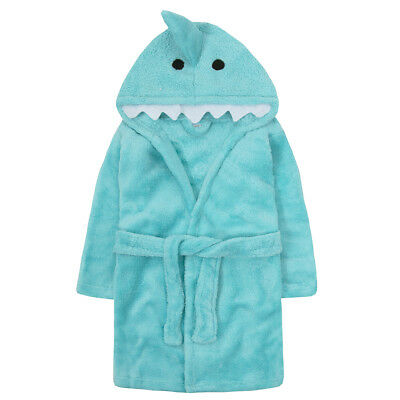 Infant Toddler Unisex Baby Boy Girl Fleece Dressing Gown Robe Animals Ages 9-24m