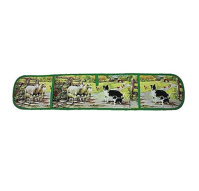 Farm Scene with Collie Dog & Sheep Double Oven Gloves by Macneil Studio Design