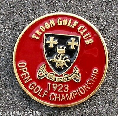 "1923 British Open Golf Ball Marker - 1"" Coin Old Troon Golf Club - Scotland"
