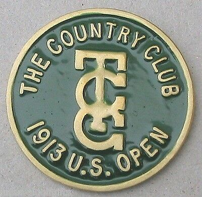 "Us Open 1913 Golf Design 1"" Hand Painted Coin Golf Ball Marker  The Country Club"