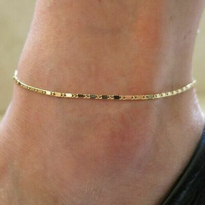Gold Elegant Simple Chain New Style Anklet Ankle Bracelet Beach Foot Jewelry