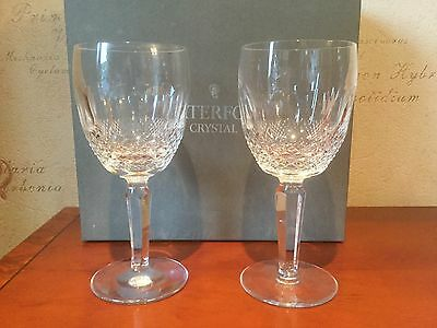 Waterford Crystal Colleen Tall Water/large Wine  Glasses - Boxed