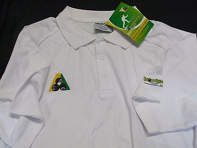 Bowlswear Australia White Polo Top, Short Sleeve, Size - X SMALL