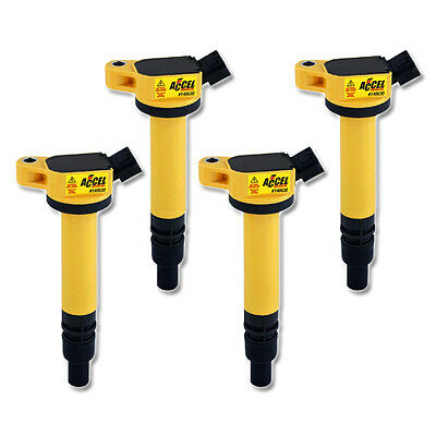 ACCEL Ignition Coil for Toyota Auris 1.33 Dual VVTi (from 06), 4 Pack