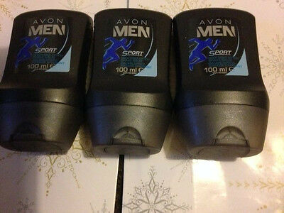 3 X Avon Men  Sport Soothing  After Shave Balm 100MLS EACH